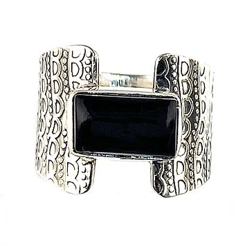 Black Onyx Sterling Silver Connection Ring