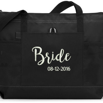 Bride Personalized Tote Bag