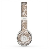 The Layered Tan Circle Pattern Skin for the Beats by Dre Solo 2 Headphones