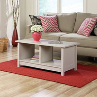 Light Grey Taupe Off-White Cocktail Coffee Table
