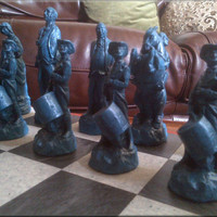 American War of Independence Stonecast Chess Set - Redcoats vs Bluecoats - 4th of July