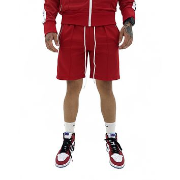 Red Track Shorts