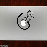 Pokemon Mew rare Mewtwo Apple Decals Stickers For Macbook 13 Pro Air Decal
