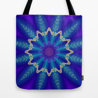 Frozen Flower Tote Bag by Lena Photo Art