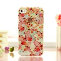 Fancy Colored Diamond Butterfly iPhone 4 / 4S case
