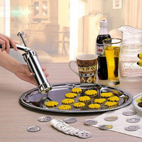 Stainless Steel Biscuit Maker or Cookies Press 22 pcs discs
