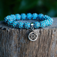 Kennedy Turquoise Silver – Rustic Cuff