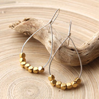 Mixed Metal Earrings, Big teardrops, Silver and gold earrings, Hoop Earrings in gold and silver, Jewelry trends, Prom 2015, Spring finds