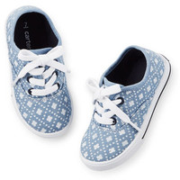 Carter's Geo Print Chambray Sneakers