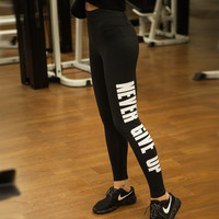 Alphabet Print Yoga Pants Gym Sportswear [4919145348]