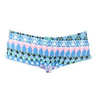 Caged-Side Tribal Print Panties by Charlotte Russe