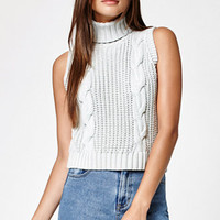 Kendall & Kylie Chunky Cable Knit Turtleneck Sweater at PacSun.com