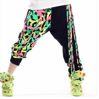 New Fashion Fringe Hip Hop Joggers Hip Hop Dance Costumes Clothes Women Hip Hop Harem Pants Sweatpants Hip Hop Trousers