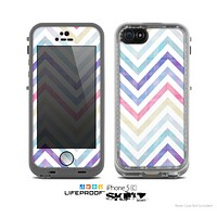 The Subtle Vintage Multi-Colored Chevron Pattern Skin for the Apple iPhone 5c LifeProof Case