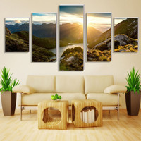 5Pcs Unframed Sunrise Painting Modern Home Wall Decor Canvas picture Art HD Print Painting Mountain Canvas arts Modular pictures