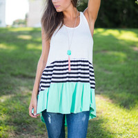 Sail And Flare Tank, Mint