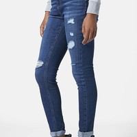 Women's Topshop Moto Ripped Skinny Jeans ,