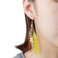 Natural Feather Tassel Earrings