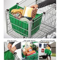 Grocery Grab Bag Foldable Tote Eco-friendly Reusable Trolley Supermarket Large Capacity Bag