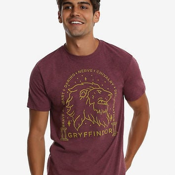 Harry Potter Gryffindor Sketch T-Shirt - BoxLunch Exclusive