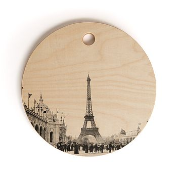 Bianca Green VINTAGE PARIS AROUND 1900 Cutting Board Round
