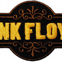 Pink Floyd Iron-On Patch Die Cut Yellow Logo