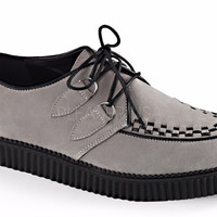 "Creeper 602 Gray Suede 1"" Oxford Comfort Shoe Men Sizes 4-13"
