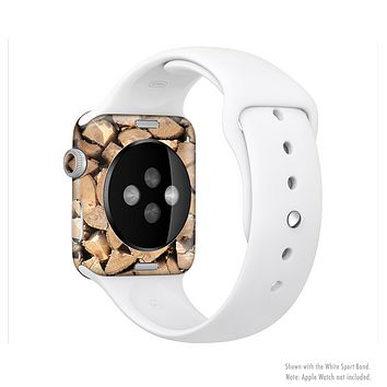 The Chopped Wood Logs Full-Body Skin Set for the Apple Watch