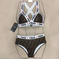 FENDI One Piece Summer Beach Hot Swimsuit Swimwear Bikini Set