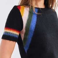 Cooperative Short Sleeve Rainbow Sweater | Urban Outfitters