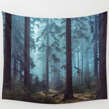 Polyester Forest Tree Tapestry 150X130cm Wall Hanging Throw Mat Blanket Home Room Art Wall Decor Beach Towel Picnic Cloth