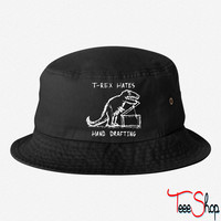 Architecture T-Rex Hates Hand Drafting bucket hat