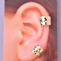 Textured Ear Cuffs - Gold or Silver