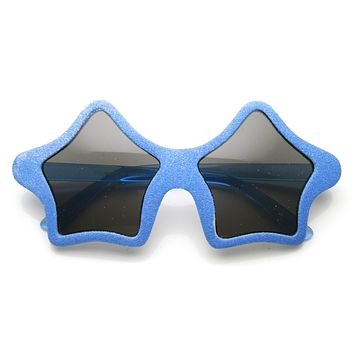 Novelty Star Shape Glitter Party Superstar Sunglasses 9537