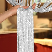 200cm*100cm Fly Screen Fringe Tassel Curtain String Sparkle Curtains Room Door Window Divider