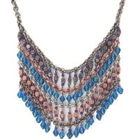 With Love From CA Bead & Chain Collar Necklace - Womens Jewelry - Multi - One