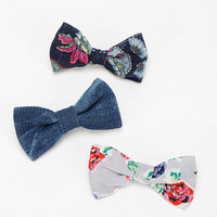Bow Hair Clip - Set Of 3 - Urban Outfitters