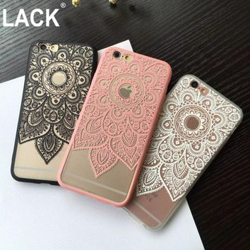 Sexy Beautiful Datura Floral Phone Cases For Apple iphone 6 Case For iphone 6S 6 Plus Cover Classic Lace Mandala Flower Fundas
