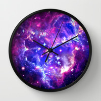 Galaxy. Wall Clock by Matt Borchert