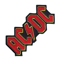 AC/DC Men's Embroidered Patch Red
