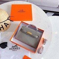 1024 Hermes Fashion Classic Handle Mini Kelly Bag Minaudiere size 21cm-2