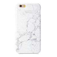 iPhone 6 Plus Case - GMYLE  Snap Cover Glossy White Marble II Pattern