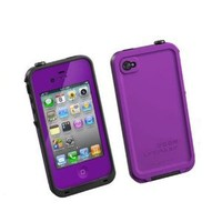 Generic Water Proof Carrying Case for iphone 4 4S Case Cover (purple)