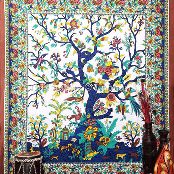 Tree Of Life Tapestries, Hippie Tapestries, Wall Tapestries, Tapestry Wall Hanging, Tapestries, Indian Tapestry, Bedspread, Bohemian Bedding