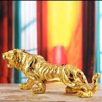 Tiger sculpture, statue, Business gifts, lucky crafts, living room, office, creative Home decor, Ornament, Resin tiger figure~