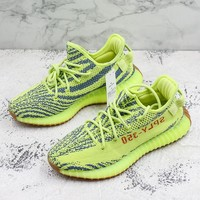 adidas Yeezy 350 V2 Boost PK Semi Frozen Yellow B37572 - Best Deal Online