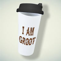I am Groot the Guardians of galaxy root For Double Wall Plastic Mug ***