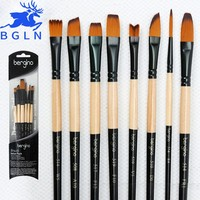 Bgln 6Pcs Artist Paint brushes Set For Oil Acrylic Watercolor Gouache Painting Brush Art Supplies