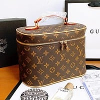 Bunchsun Louis Vuitton LV Box Series Women Leather Handbag Tote Cosmetic Bag Crossbody Satchel Shoulder Bag