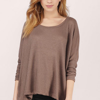 Kari Dolman Sleeve Oversized Sweater